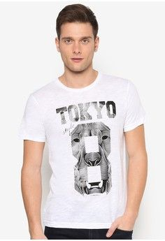 Tokyo 8 Graphic Tee from UniqTee in white_1