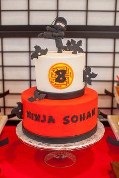 Cake from a Japanese Inspired Ninja Party via Kara's Party Ideas KarasPartyIdeas.com (71)