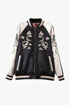 """Size + Fit: - Reversible jacket, front zipper - 7/8 sleeve length - US Size: XS-2 / S-4 / M-6 / L-8 - EUR Size: XS-34 / S-36 / M-38 / L-40 - Length: 23.2"""" / 59cm - Bust: 40.9"""" / 104cm - Model is weari"""