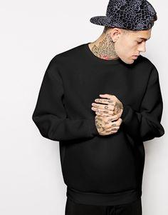 ASOS Oversized Sweatshirt In Scuba size s