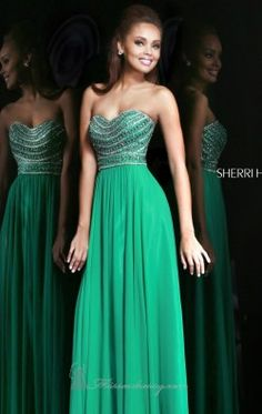 Beaded Strapless Gown by Sherri Hill 8546