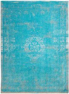 Orientteppich Muster | gefärbt gewebt |  Vintage-Teppich Aqua - Bild vergrößern