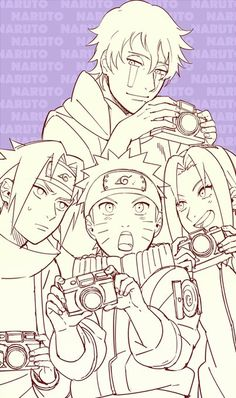 Kakashi in disguise with Team 7