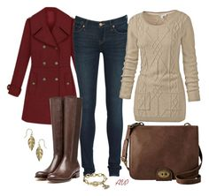 """""""Rupert Sanderson Riding Boots"""" by amy-phelps ❤ liked on Polyvore featuring Marc by Marc Jacobs, Rupert Sanderson, Fat Face, FOSSIL and People Tree"""