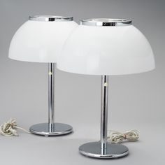 """Senior"" (Orno 940-147) table lamps designed by Heikki Turunen for Stockmann Orno, 1980's."