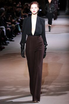 NY fashion week, Fall 2012.  I like the use of black and burgundy....timeless