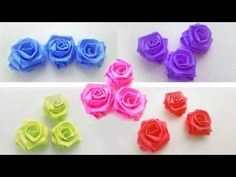 How to make small roses with paper strips - YouTube