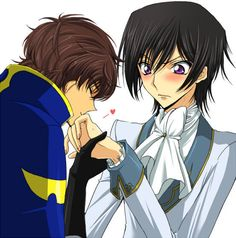 Code Geass Shounen Ai Lelouch X Suzaku Innocent Kiss Blushing