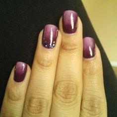 Purple ombre gel nail art