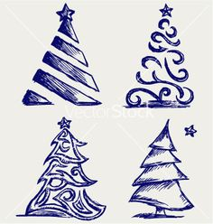 Abstract christmas tree vector 1023947 - by kreatiw on VectorStock®