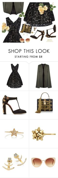 """Golden!"" by gabyidc ❤ liked on Polyvore featuring Dolce&Gabbana, Sydney Evan, Guerlain, Kate Spade, Shana Gulati, Forever 21 and vintage"