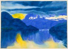 Emil Nolde (German-Danish, 1867 - 1956) - Lake Lucerne (Vierwaldstätter See), 1930