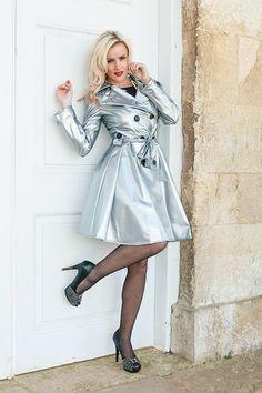 Silver PVC Raincoat