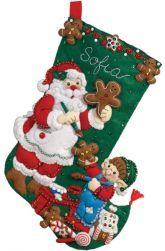 Gingerbread Santa Stocking kit by Bucilla
