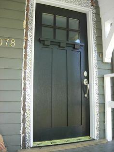 Craftsman style door.