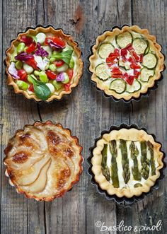 Quiche Pies by Basilico & Pinoli {Italian} #quiche #pies #tarts #recipe