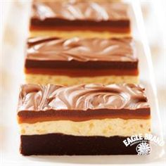 Start the New Year with a commotion.. and this Chocolate Caramel Commotion Bars recipe from Eagle Brand® Sweetened Condensed Milk