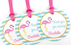 Flamingo Party Favor Tags Flamingo by DandelionKidsPartyCo on Etsy
