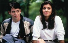 """Mia Sara - """"Doesn't everyone want to be Sloane Peterson in Ferris Bueller's Day Off at one point in their lives? Full brows, cherry lips, soft waves—this is back-to-school beauty at its finest and a highly persuasive case for an effortless, minimal makeup routine."""" Zoe Taubman, Vogue.com Associate Social Media Manager"""