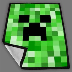 Minecraft Creeper Face Blanket Fleece Design Bedding Quilt Throw Blankets