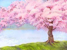 spring watercolor landscape - Google Search