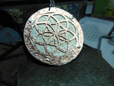 Flower of Life Necklace Copper/Aluminum Flower by Centsations, $95.00