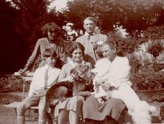 Paulo and Olga Picasso, Alice B. Toklas, Pablo Picasso and Gertrude Stein; Bilignin, France, 1930.  Yale Collection of American Literature. Gertrude Stein and Alice B. Toklas Papers. (C) 2008 Estate of Gertrude Stein.