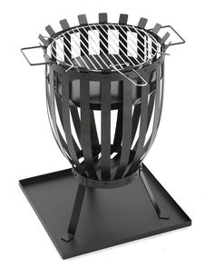 Fire Pit Barbecue Round BBQ Charcoal Grill Heater Fire Pit Bowl Firepit Patio