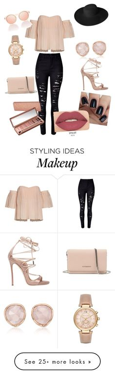 """Simple with an edge"" by skyeflemings on Polyvore featuring Givenchy, Dorfman Pacific, Dsquared2, Monica Vinader, Michael Kors, Urban Decay and Smashbox"