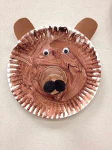 celebrating bear week. Brown bear brown bear what do you see. Paper plate craft