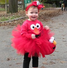 Cute Elmo Outfit for the Birthday Girl at a Elmo Birthday Party