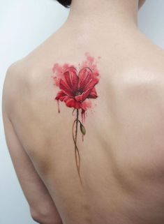 70 awesome watercolor tattoo designs for women tattoos ιδέες Flower Tattoo Designs, Tattoo Designs For Women, Flower Tattoos, Tattoos For Women, Time Tattoos, Body Art Tattoos, Sleeve Tattoos, Tatoos, Model Tattoo