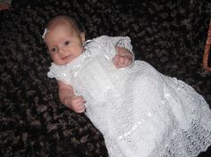 baby Christening Gown Crochet Pattern -- PDF 951: Elizabeth's Blessing/Christening Dress Thread Crochet Pattern