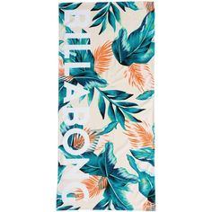 Billabong Women's Sunset Sounds Towel ($40) ❤ liked on Polyvore featuring home, bed & bath, bath, bath towels, accessories, multi, tropical bath towels, aqua bath towels and billabong