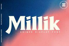 Millik - Multipurpose unique font by Zeaspace on @creativemarket