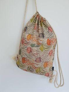 rucsac tip sac meduza Drawstring Backpack, Backpacks, Bags, Fashion, Handbags, Moda, Fashion Styles, Backpack, Fashion Illustrations