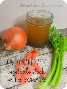 DIY Basic Vegetable Stock Recipe: Vegetable scraps that are trimmed and cleaned, 1 T salt, garlic to taste, 2 bay leaves, Water Veggie Recipes, Soup Recipes, Vegetarian Recipes, Healthy Recipes, Recipies, Healthy Cooking, Cooking Tips, Healthy Eating, Stay Healthy