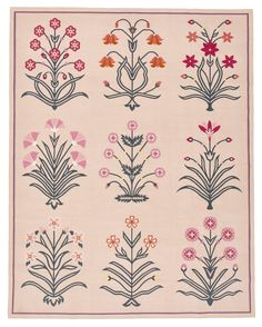Madeline Weinrib's New Line of Carpets Are Perfect for Spring—An Exclusive F. Madeline Weinrib's N Textile Patterns, Textile Prints, Flower Patterns, Textiles, Mughal Miniature Paintings, Orange Carpet, Fur Carpet, Grey Carpet, Carpet Trends