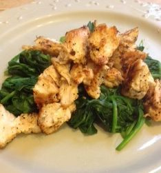 Keeping It Simple--Sauteed Chicken and Spinach HCG phase 2