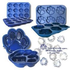 What better way to show your Tiger spirit than with these FANPAN™ multi-use silicon baking pans and trays! We offer three different sizes perfect for ice cubes, muffins, cupcakes, cookies, cakes, candy, Jell-O...all kinds of tasty treats! FANPAN™ is refrigerator, freezer, microwave, and dishwasher safe, providing direct freezer to oven convenience withstanding temperatures of -76F to 450F.  #Memphis #Tigers #baking #molds