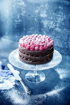 A Delicious Vegan Raspberry-Chocolate Truffle Cake | Rue