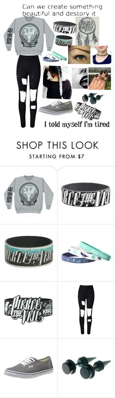"""""""Pierce the veil """" by beautyqueens1 ❤ liked on Polyvore featuring Vans, Venom, women's clothing, women's fashion, women, female, woman, misses and juniors"""