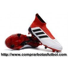 Antiguas Botas De Futbol Adidas Predator 18+ FG Blanco Rojo Negro 878b1b026609a