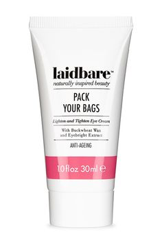 Buy Laidbare Pack Your Bags Lighten & Tighten Eye Cream and other Laidbare products at LoveLula - The World's Natural Beauty Shop. Natural Eye Cream, Natural Skin Care, Pack Your Bags, Dull Skin, Skin Problems, Beauty Shop, Organic Beauty, Skin Treatments, You Bag