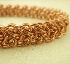 Bronze Wood Elf BANGLE Kit - Chainmaille - Fun for Any Skill Level. $35.00, via Etsy.