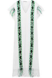 Sensi StudioMacana fringed woven cotton dress