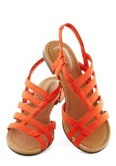 White Sand Shores Sandal in Orange, #ModCloth