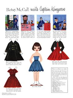 I mounted several of these paper dolls on magnetic paper for my 3-year-old. She adores them.