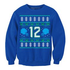 Seahawks 12th man ugly sweater! Need this for my ugly sweater party!!