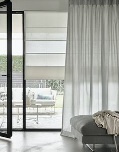 Home Curtains, Curtains With Blinds, Window Coverings, Window Treatments, Living Furniture, Living Room Decor, Contemporary Curtains, Lets Stay Home, Stores